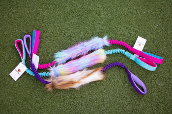 Dogs craft unicorn fur krab bungee Dog toy